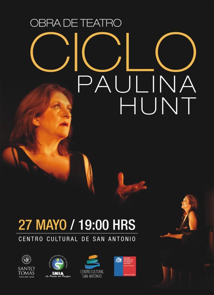 Afiche función obra CICLO en Centro Cultural de San Antonio 27 Mayo 2015