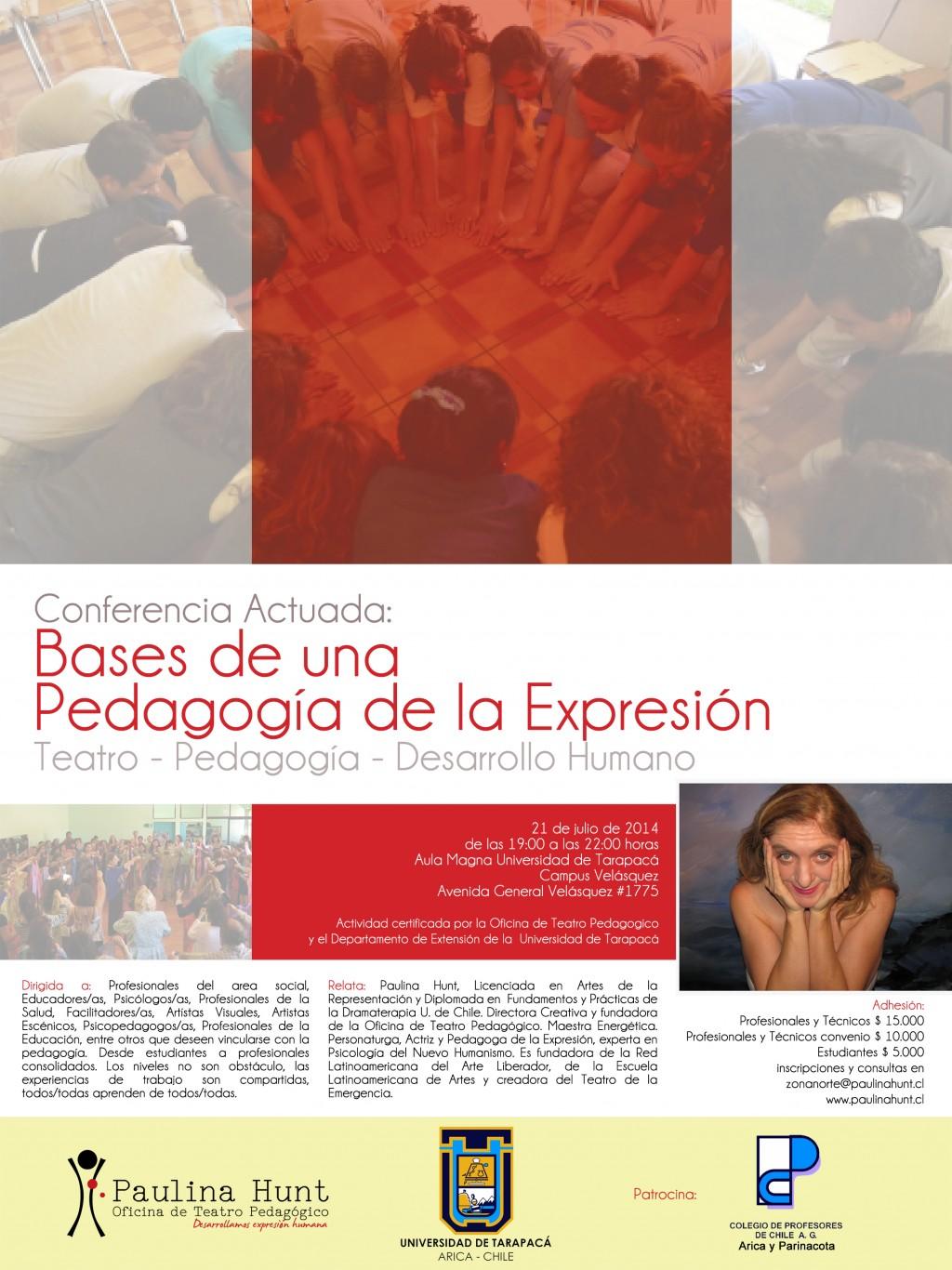 Conferencia Actuada U. de Tarapacá por Paulina Hunt