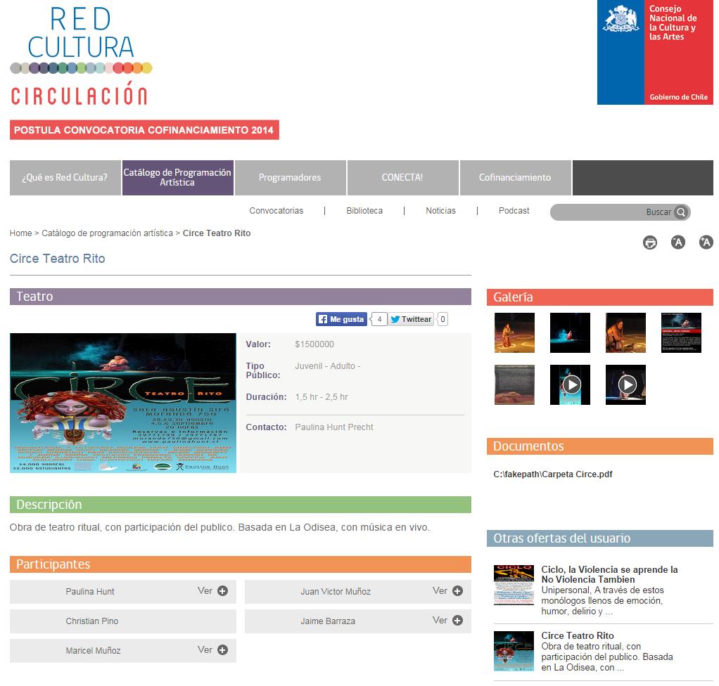 Obra de Teatro CIRCE en Red Cultura
