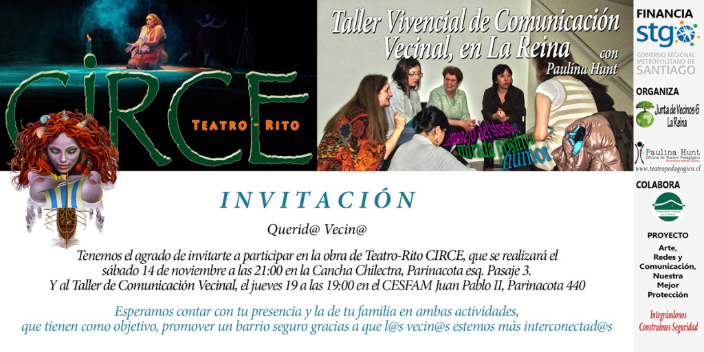 INVITACIÓN para Obra CIRCE y TALLER en Villa La Reina