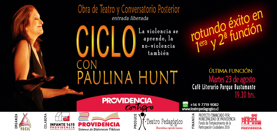 Unipersonal CICLO de Paulina Hunt en Providencia